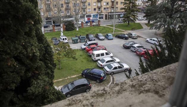 El aparcamiento del edificio Iwer, de uso particular.