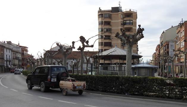 Foto del casco urbano de Lodosa.