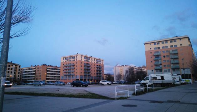 Foto del aparcamiento en el Paseo Anelier tras la puesta en marcha de la zona azul.