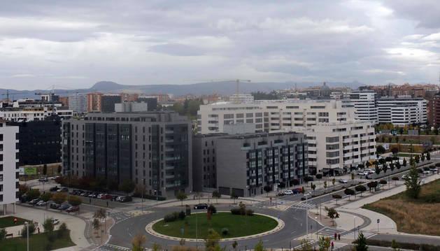 foto de Vista del barrio de Lezkairu en Pamplona