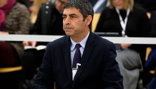El exmayor de los Mossos, Josep Lluís Trapero, durante el juicio.