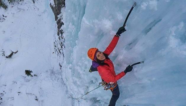 Cecillia Buil y la escalada en hielo, protagonistas en Sangüesa.