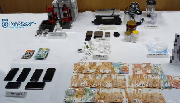 Cuatro detenidos en Pamplona, con 300 gramos de cocaína y 32.000 euros