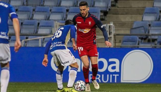 foto de Kike Barja, durante el partido de Copa del Rey contra el Recreativo de Huelva