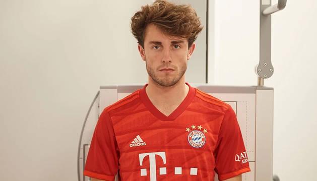foto de Odriozola, con la camiseta del Bayern de Múnich