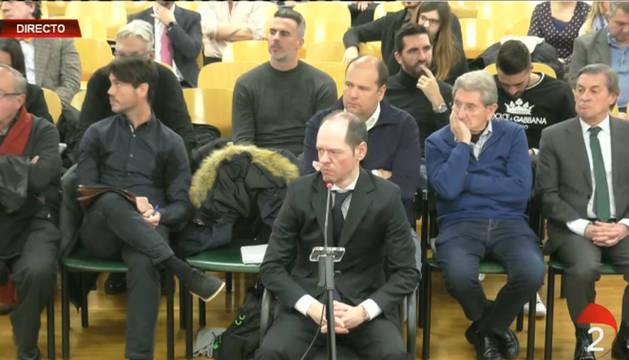 Foto de la sesión del juicio de este miércoles, durante la declaración de Sancho Bandrés.