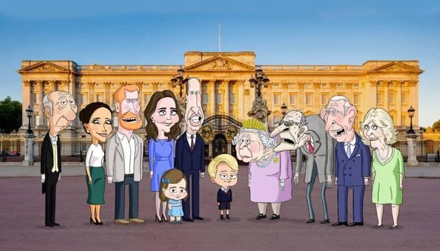 foto de Serie satírica de dibujos animados sobre la familia real británica