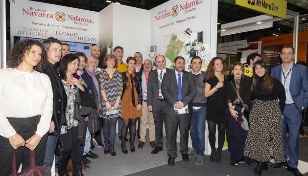 La presidenta del Gobierno de Navarra, María Chivite, ha presidido este viernes el acto institucional del Día de Navarra en el pabellón de la Comunidad Foral en la Feria Internacional de Turismo (FITUR).