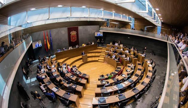 Foto de uno de uno de los Plenos del legislativo.