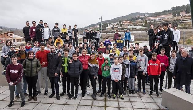 Todas las fotos de la inauguración en Estella del primer espacio de parkour de Navarra en Nuevo Zaldu