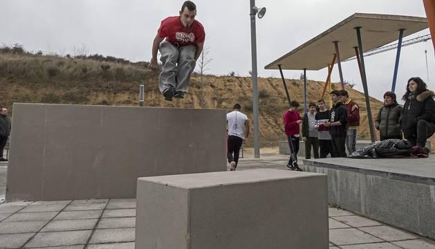 Inauguración del espacio de Parkour en Estella