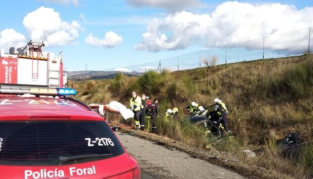 foto de Lugar en el que se ha producido el accidente en Barásoain