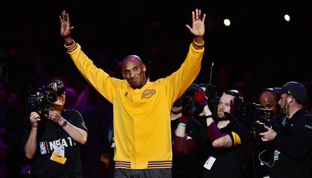 foto de Kobe Bryant, el día de su despedida de la NBA