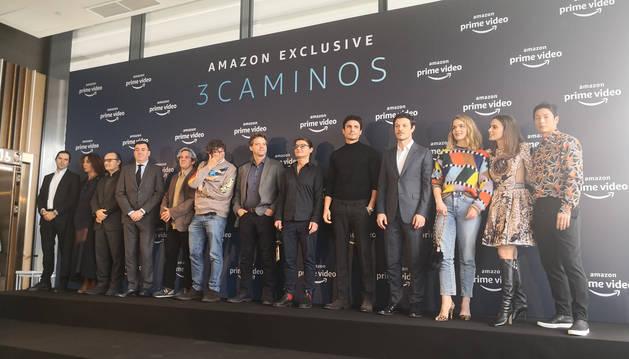 Foto de la presentación de la serie '3Caminos'