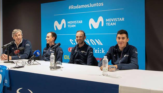 Valverde, líder del Movistar: