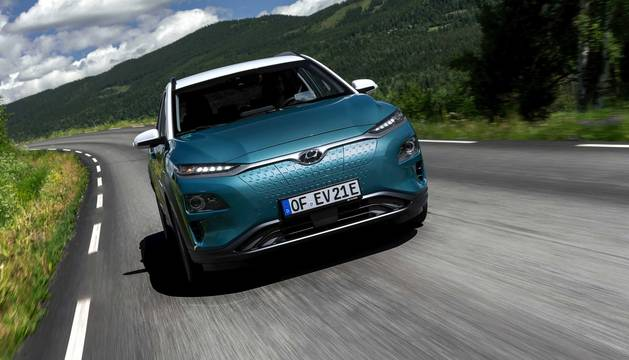 Foto del nuevo Hyundai Kona eléctrico.