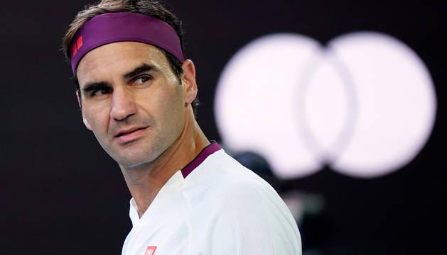 Federer, durante su partido contra Tennys Sandgren.