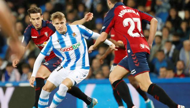 Arrasate trató de maniatar a Odegaard, pero el noruego acabó firmando un gran partido.