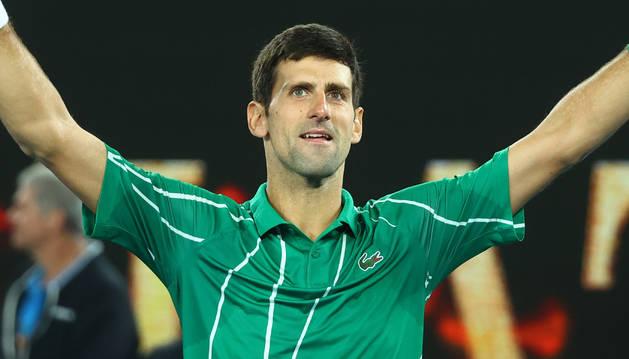 Foto del serbio Novak Djokovic.