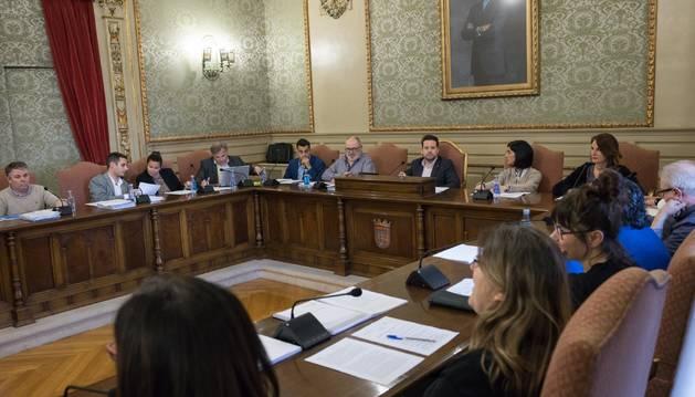 Foto de un momento del pleno del Ayuntamiento de Tudela celebrado el lunes.