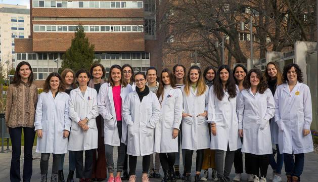 Científicas del grupo 'Women for Science and Technology' de la Universidad de Navarra.
