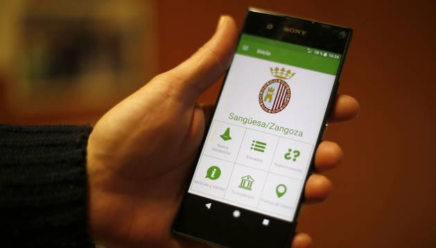 Foto de la aplicación 'Línea Verde' de Sangüesa