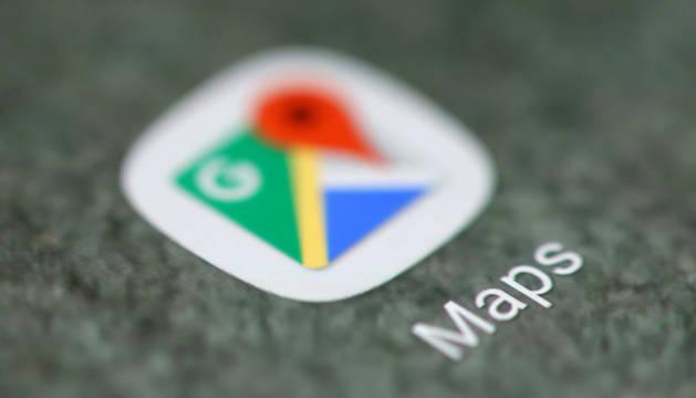 foto de Logotipo de Google Maps en un móvil