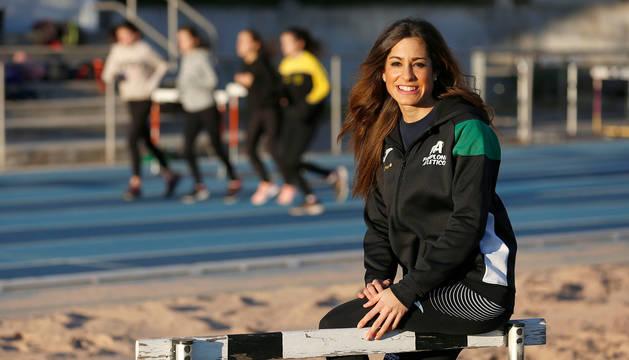 Alicia Carrera Hernández, este miércoles en el estadio Larrabide.