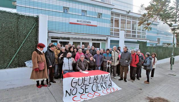 Moviización de los trabajadores contra el cierre de Guelbenzu.