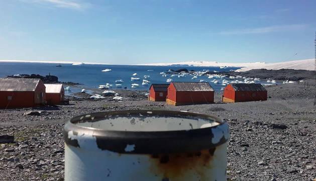 Base de investigación argentina Esperanza, en la Antártida.