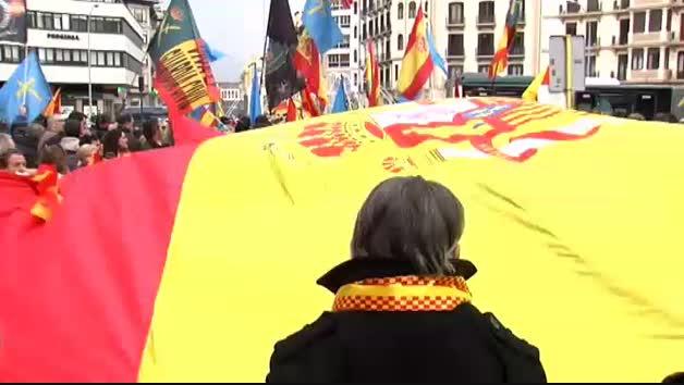 Vídeo | Concentración de apoyo a la Guardia Civil en Navarra
