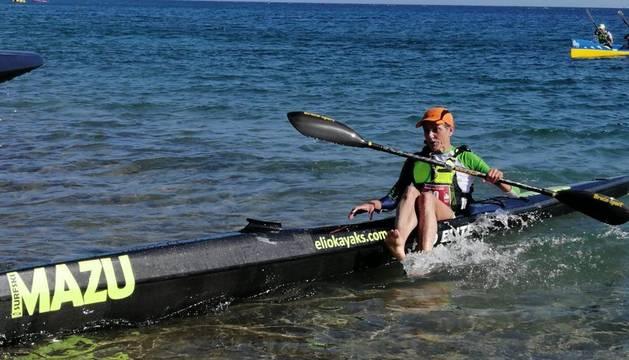 Osaba, a la finalización de la prueba de ayer en Lanzarote.