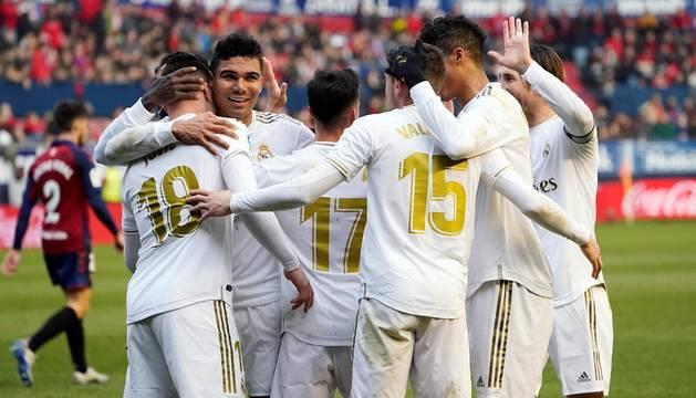 Galería de fotos del partido Osasuna-Real Madrid disputado en El Sadar y correspondiente a la jornada 23 de LaLiga Santander.