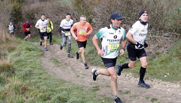 Imágenes del Trail Hiru Herri de Huarte, celebrado este 9 de febrero.