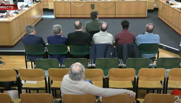 foto de Un momento del juicio por el Caso Osasuna de este lunes