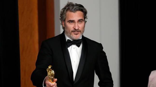 Joaquin Phoenix, tras recoger su premio a mejor actor.