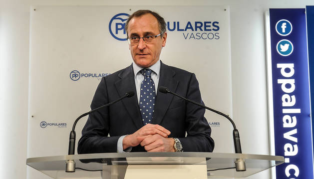 foto de El presidente del PP del País Vasco, Alfonso Alonso