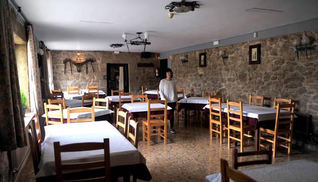 Foto de Naira Rabal Marco en el renovado comedor de El Maño.