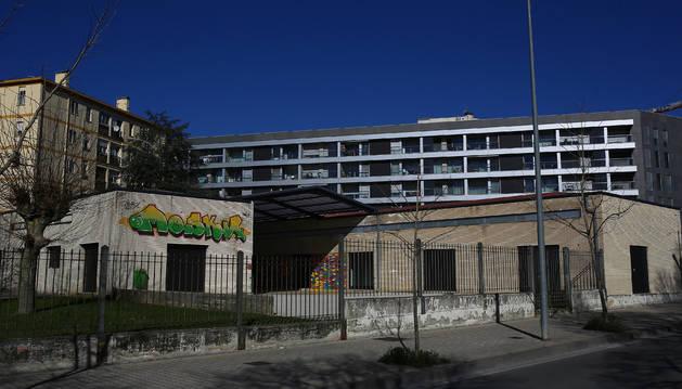 El Centro Comunitario del barrio de la Milagrosa, en la calle Blas de Laserna, ubicado en la antigua escuela infantil Printzearen Harresi.