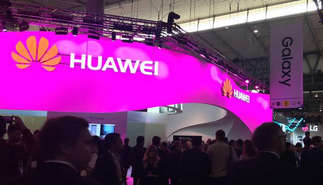 Imagen del stand de Huawei en una feria anterior.