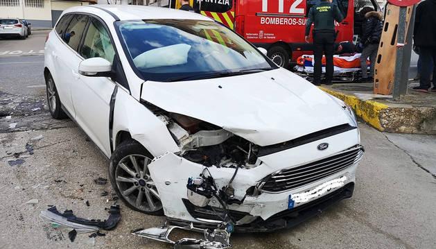 Estado en el que quedó uno de los vehículos implicados en la colisión.