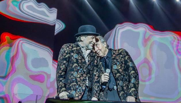 Foto de Sabina y Serrat en el WiZink Center de Madrid el 20 de enero de 2020.