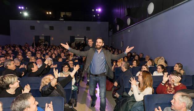 Foto de Dani Rovira y Luis Zahera en Cine Moncayo.