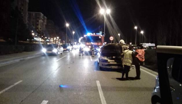 Bomberos de Navarra, en el lugar del accidente.