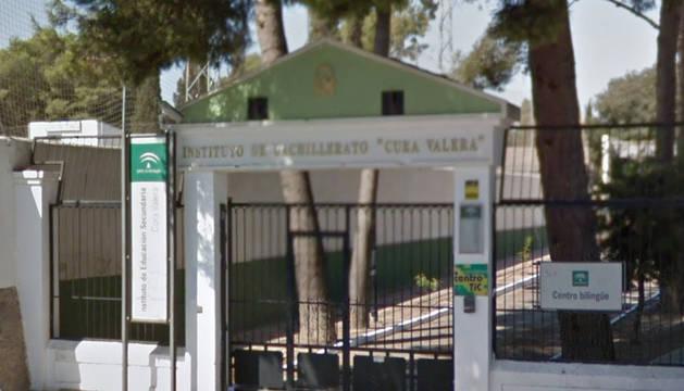 Entrada al  IES Cura Valerade Huércal Overa (Almería).