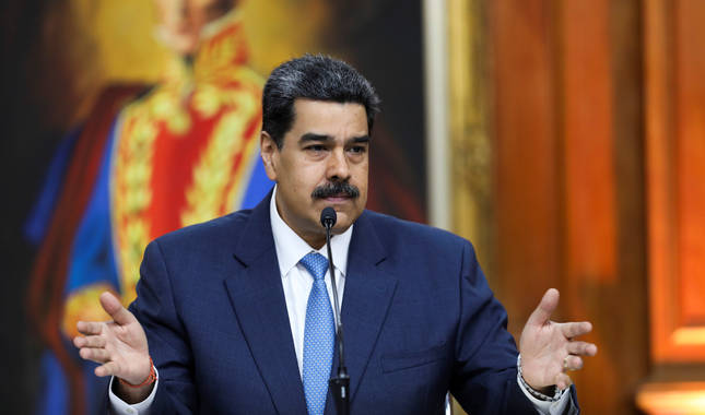 Foto de Maduro durante una conferencia, este viernes en Caracas, Venezuela.