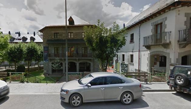 Ayuntamiento de Broto en Huesca.