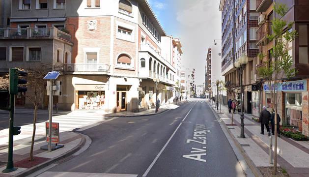 Foto de la avenida Zaragoza de Tudela.