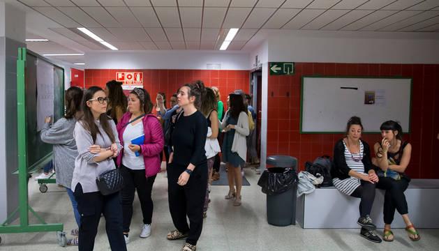 Aspirantes en las últimas oposiciones de maestros de 2019.