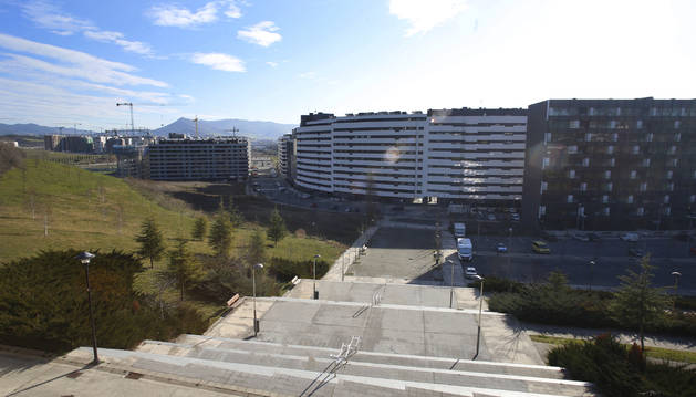 Foto A la izquierda, la ripa donde los vecinos de Erripagaña no quieren que se construyan edificios.